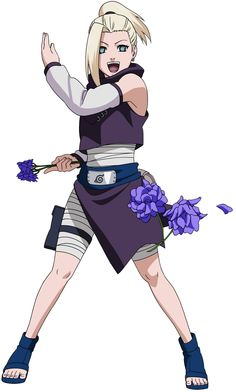 Ino Yamanaka (山中いの, Yamanaka Ino) is a major supporting character of the series. She is a chūnin-level kunoichi of Konohagakure's Yamanaka clan and a member of Team Asuma. Along with her team-mates, Ino makes up the new generation of Ino–Shika–Chō, just like their fathers were before them. In Part II Ino has also expanded her repertoire of skills and is now a medical-nin also.