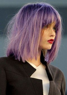 Abbey Lee lavender hair