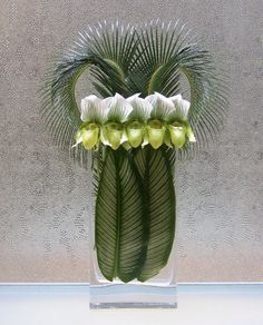Lady Slippers and Foliage - Oscar Mora. oh my ! Striking !!
