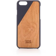 Native Union CLIC Wood iPhone 6 Case (£31) ❤ liked on Polyvore featuring men's fashion, men's accessories, men's tech accessories and marine
