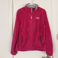 Woman's Pink North Face- Size Large Woman's pink fuzzy north face- size large. In great shape, only worn one season. Selling because I need the money. North Face Jackets & Coats