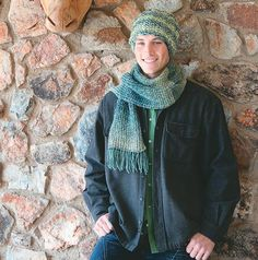 Vrouekeur | KNIT: An easy scarf and beanie for Dad