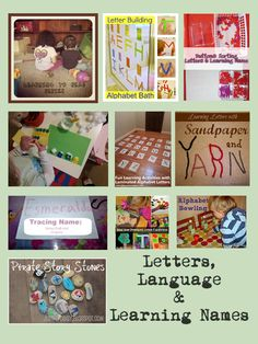 Letters, Language and Learning Names with Tuesday tots - link up for a chance to be featured next week on 1 of 4 blogs cohosting each week