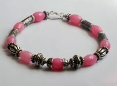 Pink Bead Art Glass Necklace Bracelet & Earrings by DevineEssence, $19.50