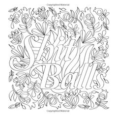 Moron - Swear Words Coloring Page from the Sweary Coloring Book ...