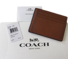 *Sold* Mens Coach Leather Slim Card Case 75022 New Authentic | eBay