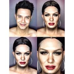 One Man Skillfully Applies Makeup To Transform Himself Into Different Celebrities