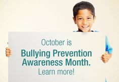 October is National Bullying Prevention Awareness Month, which provides a perfect opportunity for schools, communities, and states to talk about the best ways to prevent bullying. #STRYVE to #StopBullying365
