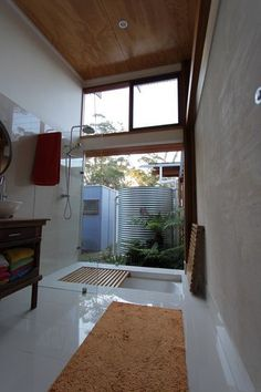 Great solution to a bath shower. Australian Houses Awards 2014 #stylecuratorau #showeroverbathdesigns