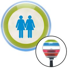 Blue 2 Women Holding Hands Stripe Shift Knob with M16 x 15 Insert - Give your interior the ultimate look. American Shifter's Elite(TM) series shift knobs are made from the highest quality components resulting in a superior feel on every shift. Each shift knob is designed and customized in the USA by skilled shift knob artisans who have a trained eye on every detail. American Shifters shift knobs offers an exclusive aluminum threaded insert designed to be screwed onto your shift arm. You…