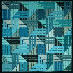 "Stunning ""Blue Ribbon"" quilt by Kent Williams."