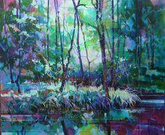 Brickyard Pond - Forest of Dean ref: 013-013 http://www.dougeaton.co.uk/painting/476-Brickyard_Pond