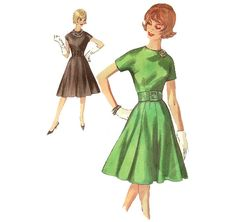 1960s Cocktail Dress - Vintage Pattern Simplicity 4747 - Bust 34 on Etsy, $16.00