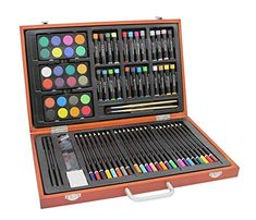 Large Pastel Artist Art Set Painting Set in Wooden Case, Watercolour, Oil Wooden Case, Paint Set, Drawing, Artist Art, Painting, Watercolor, Gifts, Articles, Gift Ideas