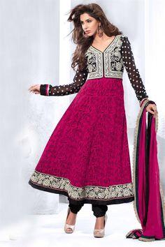 Trendy Pink Color Anarkali Salwar Kameez