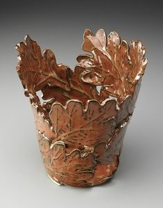 Good Dirt Pottery-Oak leaf pot