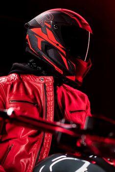 Red Motorcycle Helmets, Motocross Helmets, Concept Motorcycles, Cool Motorcycles, Art Of Fighters, Rollers, Cb 1000, Star Wars Helmet, Predator Helmet