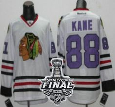 chicago blackhawks 88 kane white jersey purple number jersey with 2013 stanley cup patch jersey