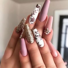 Get Inspired By This Easter Nails With Pastel Colors - # - Shapes lovenails Fall Acrylic Nails, Acrylic Nail Designs, Nail Art Designs, Nails Design, Design Art, Modern Design, Glam Nails, Glitter Nails, Kt Nails