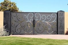 Here is a unique driveway gate.