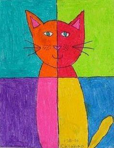 Gato de colores