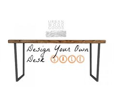 brooklyn modern rustic reclaimed wood desk by urbanwoodgoods 49500 brooklyn modern rustic reclaimed wood