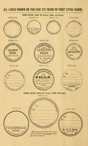 Vintage Pharmacy Labels  Circles