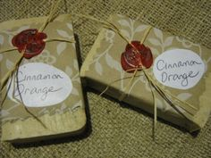 Cinnamon Orange All Natural Homemade Soap by VickimouseSews, $4.50