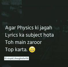 Kaash  aisa bhe hotha🙄 Stupid Quotes, Funny Attitude Quotes, Funny True Quotes, Bff Quotes, Mood Quotes, Friendship Quotes, Funny Minion Memes, Funny School Jokes, Very Funny Jokes