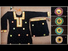 Sindhi embroidery, Shisha work dress, Shisha work kameez, Shisha work kurti, Mirror work dress, - YouTube Mirror Work Kurti, Mirror Work Dress, Work Suits, Designer Dresses, Dresses For Work, Embroidery, Youtube, Jackets, Fashion