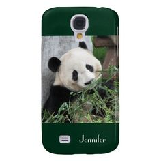 "Samsung Galaxy S4 Case Giant Panda Green - This case for the Samsung Galaxy S4 is part of our ""Giant Pandas"" collection, which includes matching gifts, greeting cards, and wrapping paper. What a wonderful complement for your new iPhone. Wonderful gift for panda lovers. Original photograph by Marcia Socolik, taken in Chengdu, China. All Rights Reserved © 2013 Alan & Marcia Socolik. See more at www.zazzle.com/SocolikCardShop*. #GiantPandas #PandaLovers #SamsungGalaxyS4"