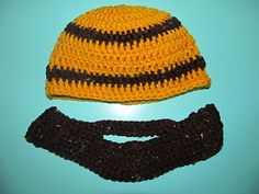 Bearded Beanie Crochet Hat with Removable Beard for kids!