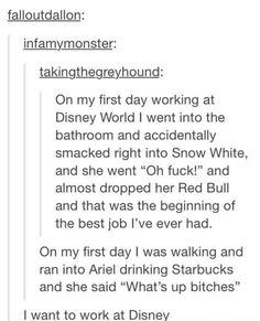 I want to work at Disney