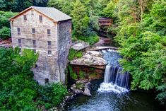 Mill Creek Park in Youngstown Ohio. This is Lanterman's Mill, an old grain mill that dates back to 1845.