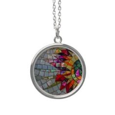 Floral Mosaic Necklace