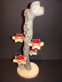 Stilvoll Kerzenhalter aus Keloholz von Scandinavicwoodworks auf Etsy