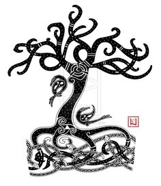 Yggdrasil Mammen-style tattoo commission by one-rook.deviantart.com on @deviantART