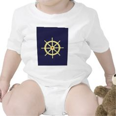 Yellow Ship's Wheel with Red Tee Shirts