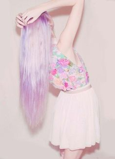 Pastel pastel pastel candy lilac hair - Click image to find more Women's Fashion Pinterest pins