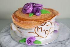 Birch log cake with fondant flowers Birch Logs, Log Cake, Decorating Cakes, Cake Face, Fondant Flowers, Fondant Cakes, How To Make Cake, Desserts, Ideas