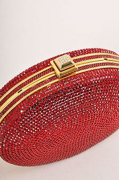 Judith-Leiber-Dark-Red-Rhinestone-Embellished-Oval-Minaudiere-Clutch
