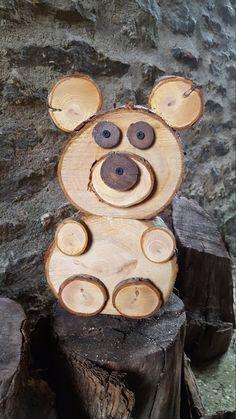 Articles similaires à Tranche de bois/Log ours sur Etsy