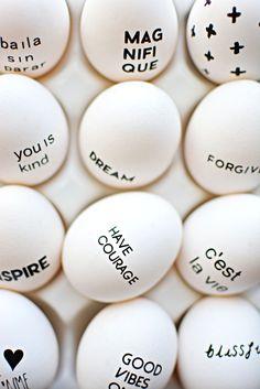 typographic eggs