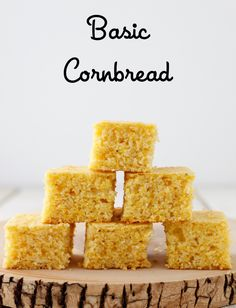 Basic cornbread is a classic fall favorite that can used in so many ways! Picky Toddler Meals, Toddler Dinners, Toddler Lunches, Baby Food Recipes, Cooking Recipes, Pastry Board, Cornbread Dressing, Homemade Baby Foods, Rezepte