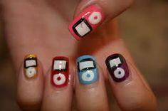 Cute IPod Nails. Re-Pin if you love music :D