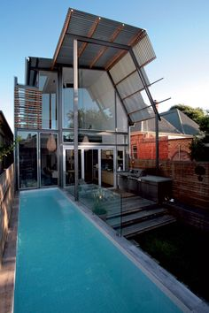 Australian Architecture, Amazing Architecture, Architecture Design, Street House, Building A New Home, Cool Pools, Pool Designs, New Builds, Glen Murcutt