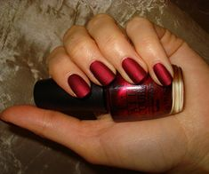 OPI - Matte Silk Red. Perfect for the season!