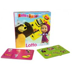 masha og bjørnen lotto/ Barbo Toys - Masha and the Bear toy line for the Nordic Market.