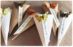 DIY Butterfly Rice Tosser by Posh Paperie + Jackie Wonders Affordable Wedding Favours, Diy Wedding Favors, Wedding Crafts, Diy Wedding Decorations, Wedding Paper, Party Favors, Wedding Ideas, Party Bags, Rustic Wedding