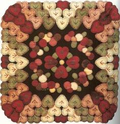 Wool-On-Wool Folk-Art Quilts-13 weekend projects for quilts-hooked rugs, PB